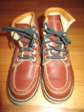 8U/VINTAGE SAL MAN MADE SHOES/WORK/SIZE 4/ SMALL/BROWN/1947/RARE!