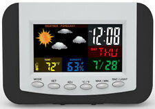 Tech Tools Weather Station Digital Month/Day/Date Alarm Clock PI-3332