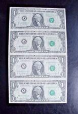 1981 Uncut sheet of $1 dollar bills (X4) ....GREAT GIFT ITEM....Real $$$$$