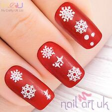 Snowflake Nail Stickers, Art, Decals, xmas, christmas, snow, winter 01.02.047