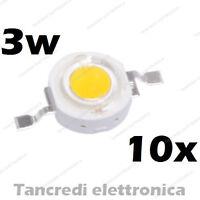 10X Chip led 3W bianco caldo 600mA 3V 3.6V alta luminosità lampadina lampada