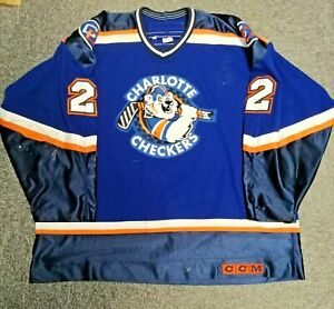 Bob MacIsaac - ECHL Charlotte Checkers 2000/01 Game Worn Jersey