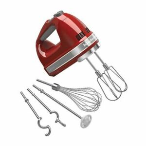NEW KitchenAid 5KHM926AER Artisan Hand Mixer - Empire Red
