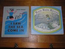 Lot of 2 RAIN RAIN RIVERS I Saw the Sea Come In Science & Nature Hardcover Books