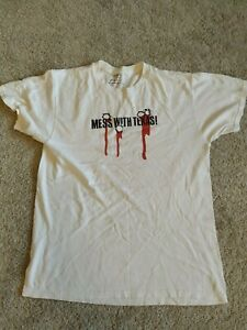 Mess with Texas T Shirt, Medium, White, Threadless