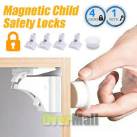 Magnetic Cabinet Locks Baby Safety Invisible Child Kids Proof Cupboard Drawer
