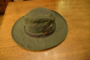 Barbour waxed hat, vintage and never worn size L