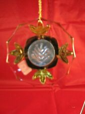 RARE Resl Lenz Disc Shape Flower Medallion Ornament