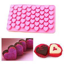 55 Mini Corazones Pastel Silicona Dulces de Chocolate Molde para Hornear