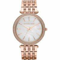 NEW MICHAEL KORS MK3220 LADIES ROSE GOLD DARCI GLITZ WATCH - 2 YEARS WARRANTY