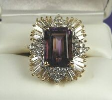 BEAUTIFUL 12.00 CT ESTATE RING    DIAMOND AND AMETHYST...APPRAISAL $21,500.00