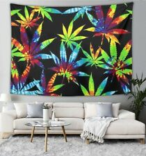 Colorful Pineapples and Tie Dye Marijuana Weed Tapestry Wall Hanging Psychedelic