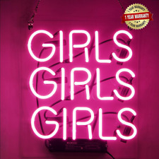 Neon Signs Girl Girls Wall Decor Light Sign Led for Bedroom Words Cool Art.
