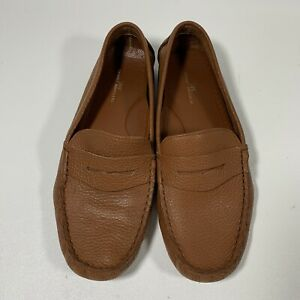 Brooks Brothers 346 Driving Shoes Brown Leather Loafers Mens Size 8.5