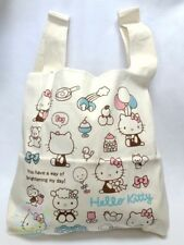 SANRIO Hello Kitty KAWAII Cotton Simple Eco-Friendly Reusable Shopping Bag JAPAN