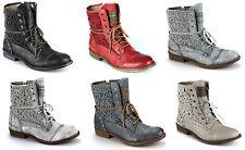 Mustang Damen Schuhe Stiefelette Schnür Booty Gr. 37 bis 42 Neu 1157527