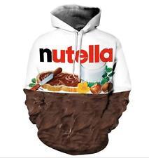 Nutella Kakao Schokolade Druck Kapuzenpullover Long Sleeve Couple Hoodie Sweater