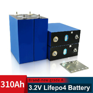3.2V 310AH cells BRAND NEW Lifepo4 battery Grade A DIY 12V 24V Rechargeable 4PCS