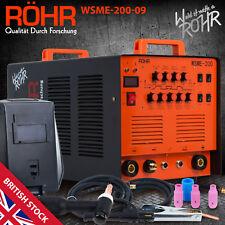 """ARC TIG Welder Inverter MMA Gas / Gasless 240V 200amp DC """"4 in 1"""" Machine - ROHR"""