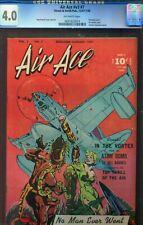 AIR ACE V3 #7 - RARE - ATOMIC BOMB ISSUE - BOB POWELL BONDAGE COVER - CGC - 1948