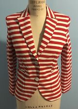 Escada Stripped Women's Blazer Red And White Size 38