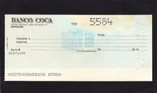 Banco Coca  ,unissued  Check  1970-78 Spain    G