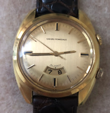 Vintage 1966 Men's Girard-Perregaux Alarm Watch Runs Working 18K GP Near Mint