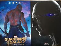 Dave Bautista Movie Poster Lot (12x18) Color AVENGERS ENDGAME DRAX MARVEL PRINT