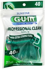 G-U-M Eez-Thru Dental Flossers, Mint Flavor - 40 Ea