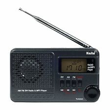 Kaito KA345 Pocket Digital DSP AM FM Shortwave Clock Radio and MP3 Player