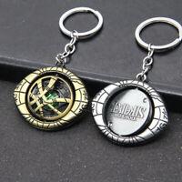 Marvel Dr Doctor Strange Pendant Eye Of Agamotto Gold/Silver Keyring Keychain