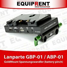 Lanparte gbp-01 gold mount/Anton Bauer Battery pinch/convertitore di tensione F. Rig eq480