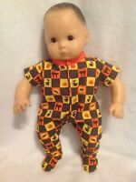 American Girl doll Bitty Baby Halloween cat pjs sleeper pajamas 15 clothes fit