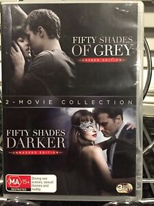 Fifty Shades Of Grey 2 Movie Collection DVD 2014 2-Disc Set Plus Bonus Disc