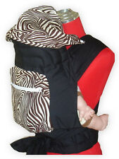 NEW MEI TAI BABY SLING CARRIER WITH SLEEPING HOOD/POCKET (Brown Zebra)