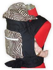 NEW MEI TAI BABY SLING CARRIER WITH SLEEPING HOOD/POCKET (Brown Zebra)