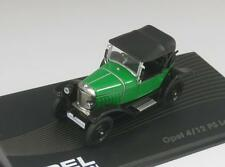 OPEL 4/12 PS LAUBFROSCH 1924 1926 OP22 IXO 1:43 NEW MODEL CAR GREEN BLACK