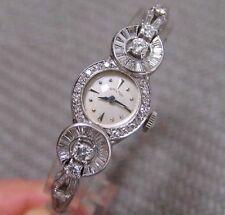 VINTAGE LADIES PLATINUM & DIAMOND HAMILTON WRISTWATCH (2.00 carats VS/G)