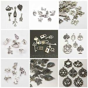 Tibetan silver charms mixed packs sets pendants antique silver colour