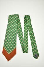 GIANFRANCO FERRE: Gold & Green Medallion, 100% Silk, Club Tie