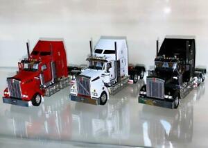 "Kenworth T909 set ""white+red+black"" WSI/Drake truck models 1:50 scale"