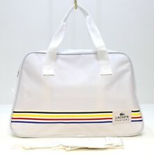 LACOSTE PARFUMS L.12.12 BIG BANG WHITE & MULTI COLOUR STRIPED SPORT/GYM BAG *NEW