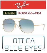 Occhiali da Sole RAYBAN RB3561 001/3F THE GENERAL Sunglasses Ray Ban GOLD GAFAS