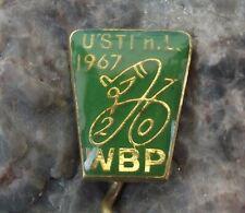 1967 WBP International Bicycle Bike Race Usti nad Labem Stage Cycling Pin Badge