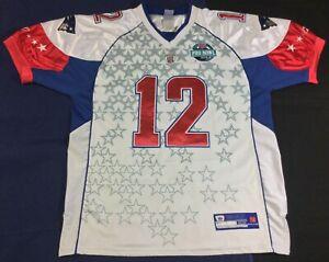 Vintage New England Patriots Tom Brady #12 Football-NFL Reebok Jersey Size52
