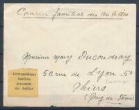 1940-45 MARTINIQUE rare étiquette Correspondance Familiale des antilles P2840