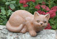 Steinfigur Katze Mieze Gartenfigur Gartendeko Tierfigur Dekofigur Geschenkidee