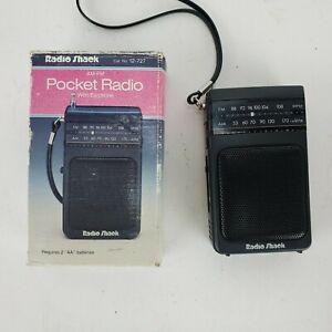 Vintage Radio Shack AM/FM Pocket Radio Model 12-727 with box