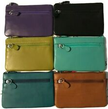 ILI Genuine Leather Card/Coin/Key Purse With RFID In 6 Colors
