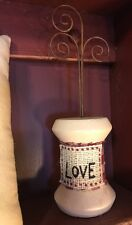 Primitive Country Picture Photo Holder Stand Love Primitive Country Home Decor